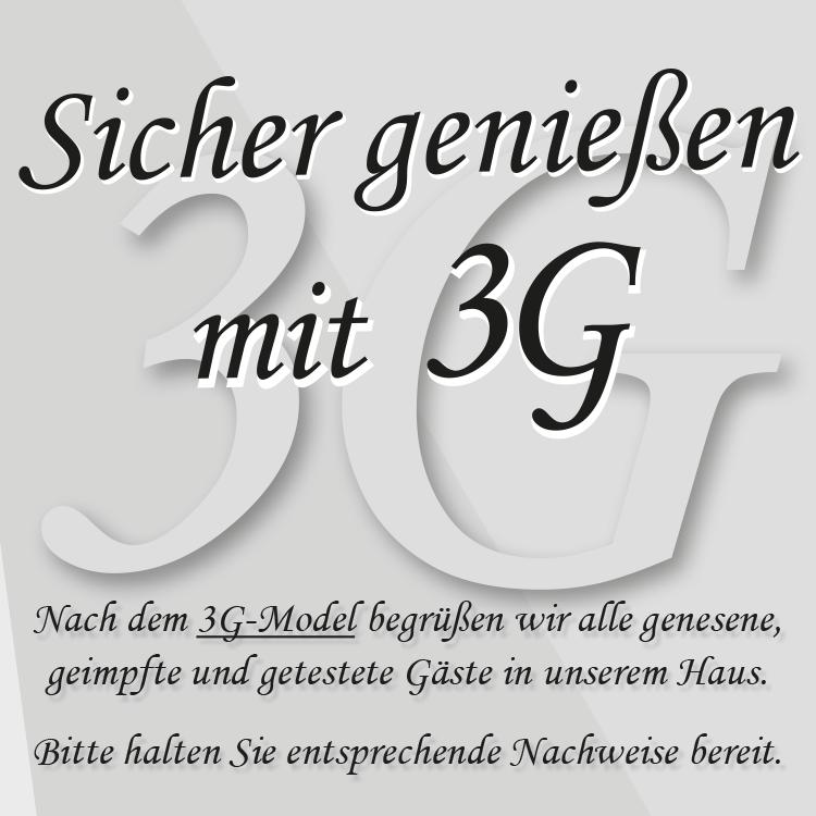 Sicher genießen mit 3G - 3G-Model im Gasthaus Feuerkugel Erfurt